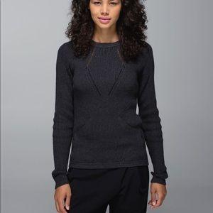 Lululemon The Sweater the Better Heathered Black 6